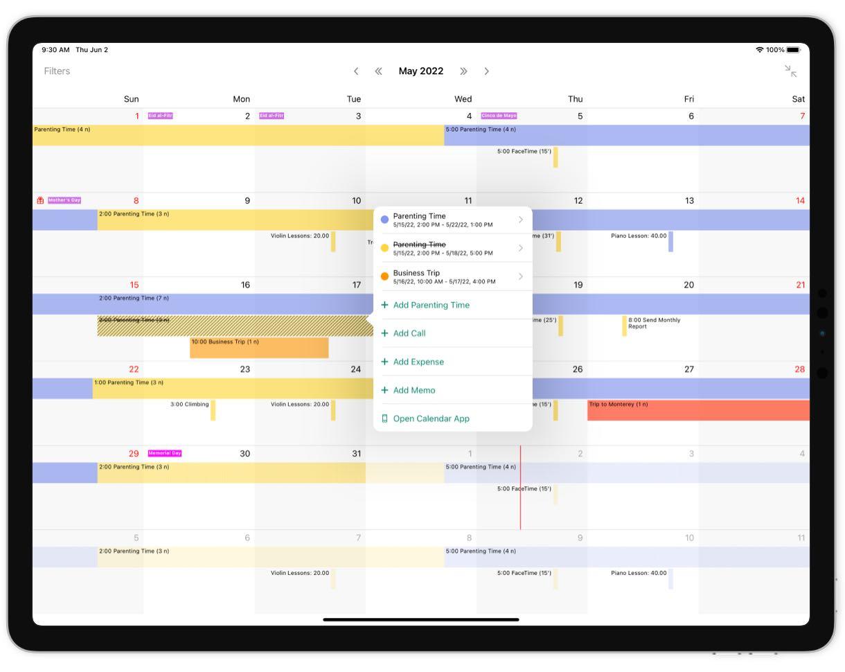 Custody Calendar App